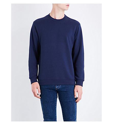 KENZO Logo cotton-jersey sweatshirt (Ink