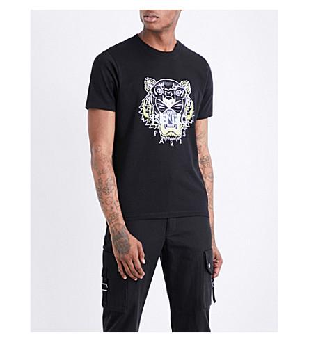 KENZO Tiger Icon cotton-jersey T-shirt (Black