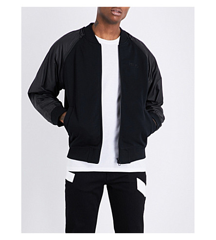 KENZO Raglan-sleeve cotton and shell bomber jacket (Black