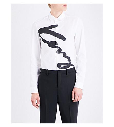 KENZO Signature-print slim-fit cotton shirt (White