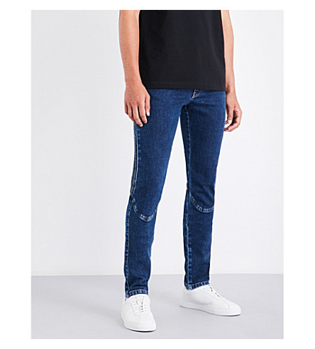 KENZO Updated Biker slim-fit straight mid-rise jeans (Navy+blue