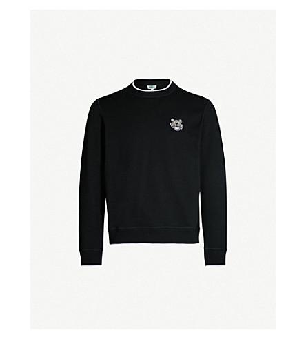KENZO Tiger-motif cotton-jersey sweatshirt (Black