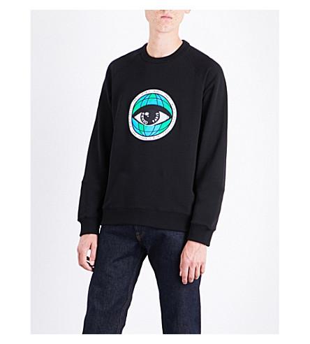 KENZO World Eye cotton-jersey sweatshirt (Black