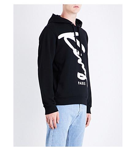 KENZO Signature cotton-jersey hoody (Black