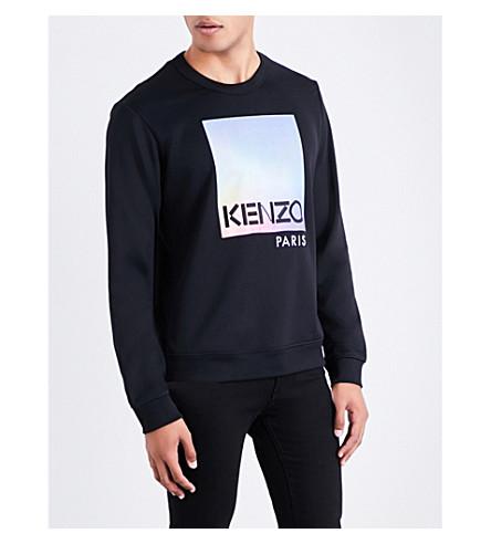 KENZO Logo-print jersey sweatshirt (Black