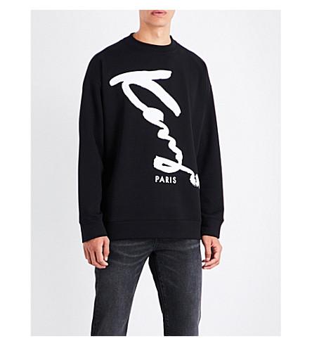 KENZO Signature-print cotton-jersey sweatshirt (Black