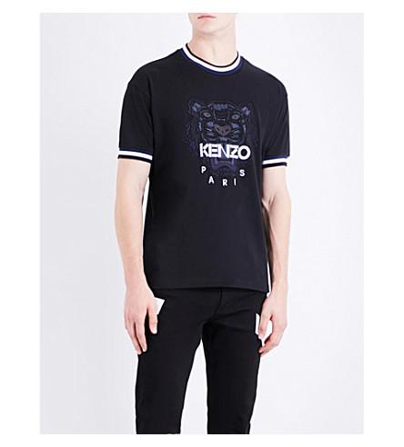 KENZO Tiger-motif cotton-jersey T-shirt (Black