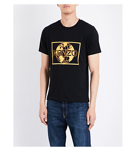 KENZO Classic cotton-jersey T-shirt (Black