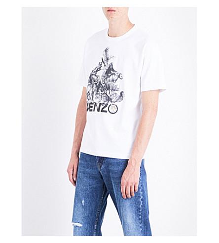 KENZO Animal kingdom-print cotton-jersey T-shirt (White