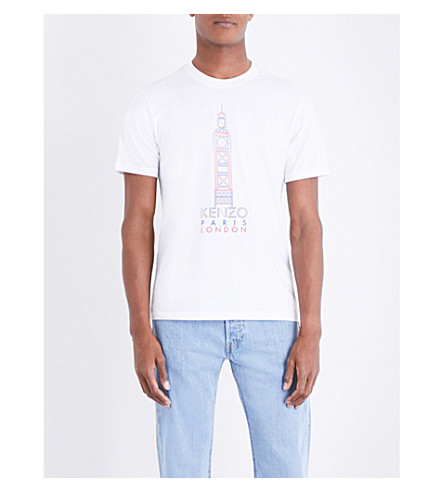 KENZO Big Ben cotton-jersey T-shirt (White