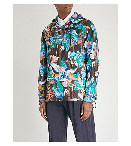 KENZO Bamboo tiger-print shell jacket (Black