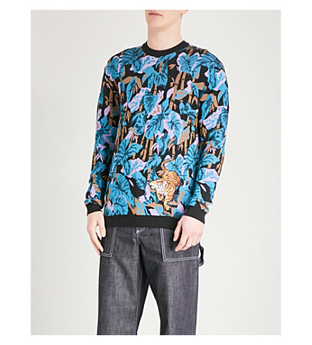 KENZO Embroidered knitted jumper (Black