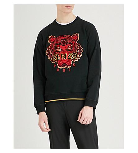 KENZO Tiger cotton-jersey sweatshirt (Black