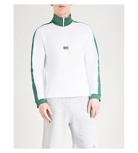 KENZO Striped stretch-cotton sweatshirt (White