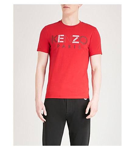 KENZO Logo-print cotton-jersey T-shirt (Red
