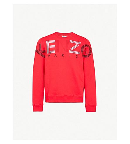 KENZO Logo-print cotton-jersey sweatshirt (Red