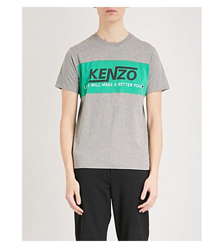 KENZO Cotton-jersey T-shirt (Dove+grey