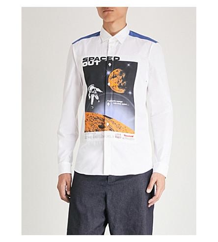 KENZO 间隔打印修身版型棉府绸衬衫 (白色