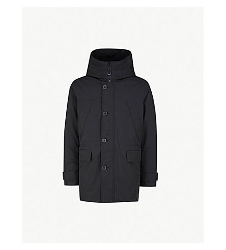 KENZO Hooded shell-down puffer coat (Black
