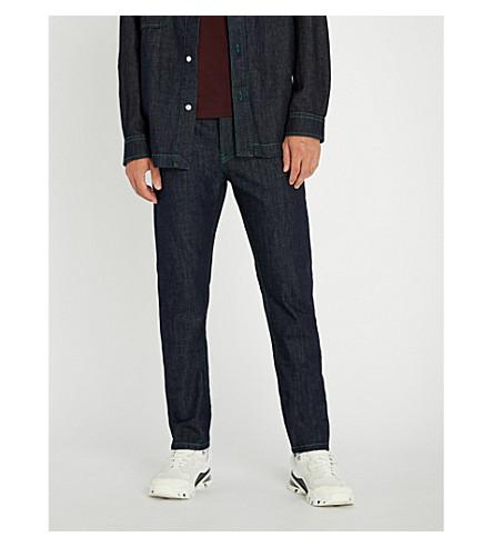 KENZO 霓虹灯修剪修身版型锥形牛仔裤 (海军 + 蓝色