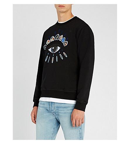KENZO Eye Icon cotton-jersey sweatshirt (Black