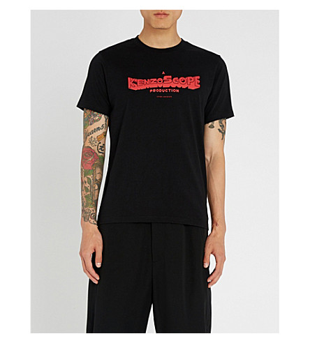 KENZO Kenzoscope logo-printed cotton-jersey T-shirt (Black