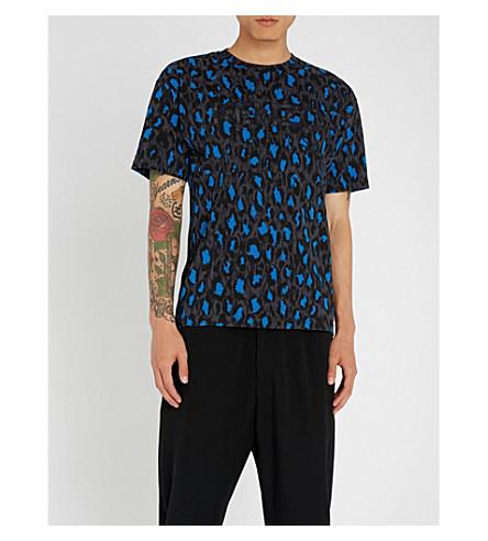 KENZO Leopard-print cotton-jersey T-shirt (Navy
