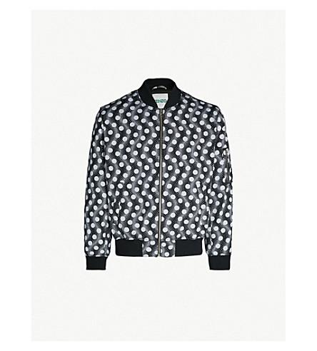 KENZO Polka-dot twill bomber jacket (Black