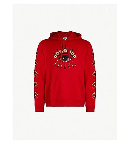 KENZO Chinese New Year cotton-jersey hoody (Vermillion