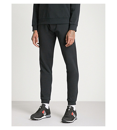 KENZO Logo-print cotton-jersey jogging bottoms (Black