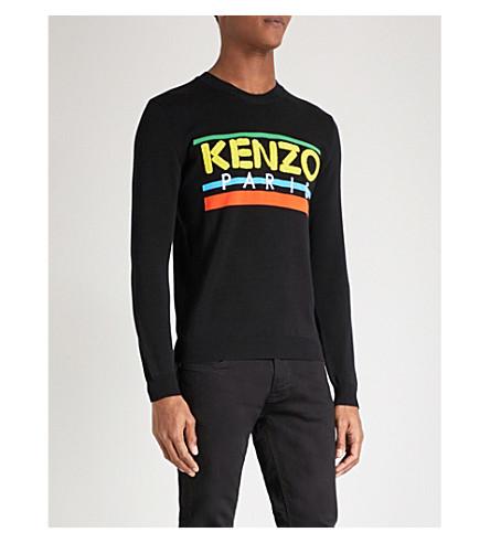 KENZO Paris logo knitted jumper (Black