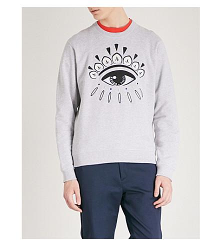 KENZO Eye Icon cotton-jersey sweatshirt (Pale+grey