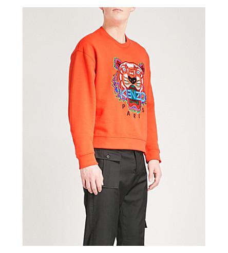 KENZO Tiger cotton-jersey sweatshirt (Medium+red