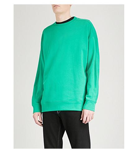 KENZO Logo-print cotton-jersey sweatshirt (Grass+green