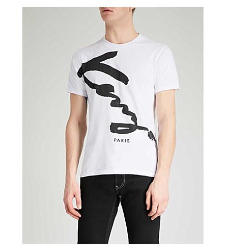 KENZO 徽标-印花棉衫 t恤衫 (白色