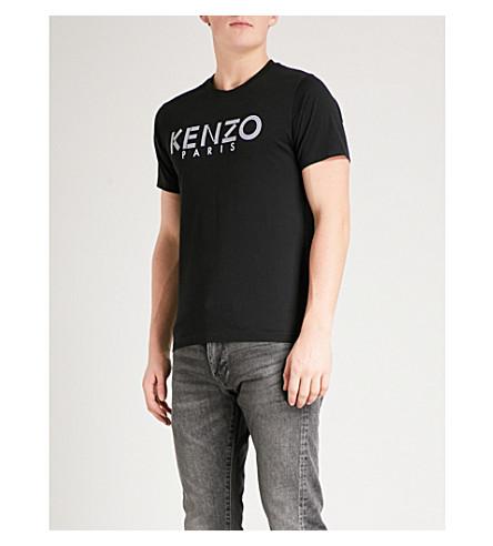 KENZO Logo-print cotton-jersey T-shirt (Black