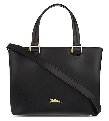 LONGCHAMP Honoré 404 small leather tote (Black