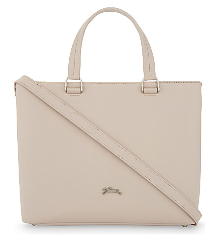 LONGCHAMP Honoré 404 medium leather tote (Ivory