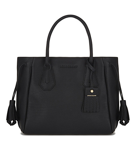 LONGCHAMP Pénélope grained leather tote (Black