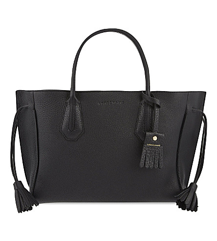 LONGCHAMP Penelope grained leather tote (Black