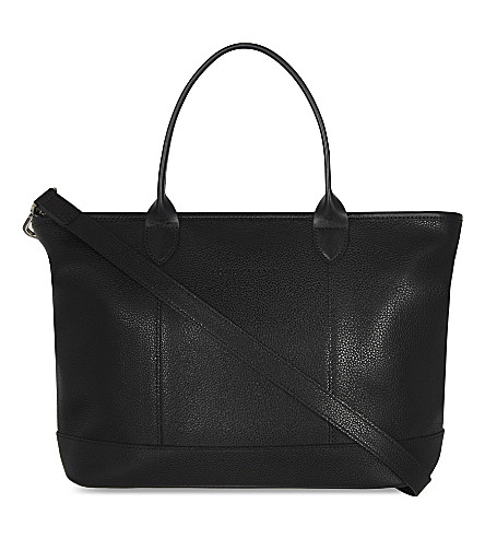 LONGCHAMP Le Foulonné leather tote (Black