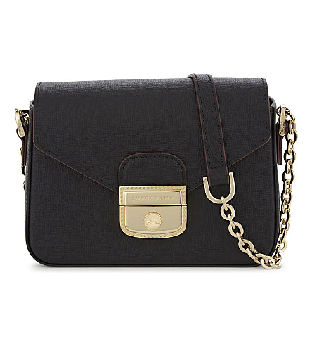 LONGCHAMP Le Pliage Héritage leather cross-body bag (Black