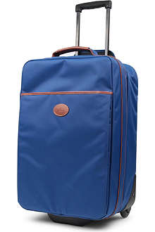 LONGCHAMP Le Pliage two-wheel cabin suitcase in indigo