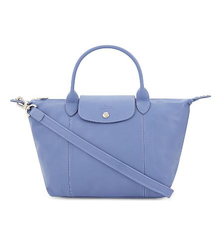LONGCHAMP Le Pliage Cuir small leather shopper (Blue+mist