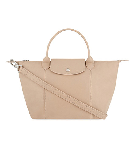 LONGCHAMP Le Pliage Cuir small leather shopper (Greige