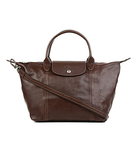 LONGCHAMP Le Pliage Cuir small handbag (Taupe