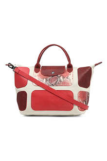 LONGCHAMP Le Pliage patch exotic small shopper