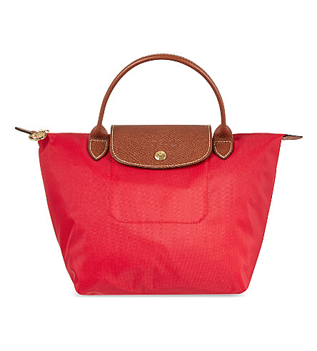 LONGCHAMP Le Pliage top handle small handbag (Red+gar