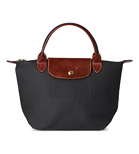 LONGCHAMP Le Pliage small handbag (Gun+metal