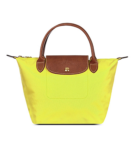 LONGCHAMP Le Pliage small handbag (Citron